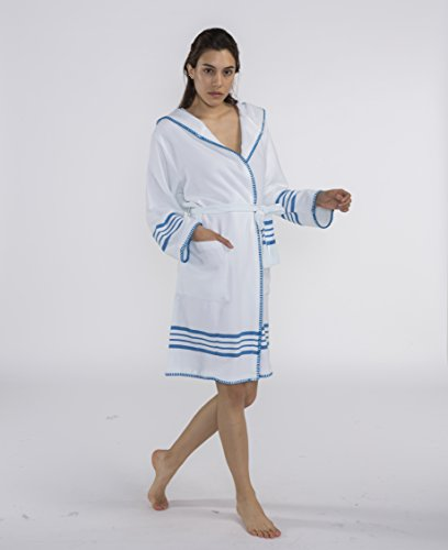 e7c6d82464bef Bathrobe, Dressing gown, light weight, multifunctional use 100% cotton  product (XL