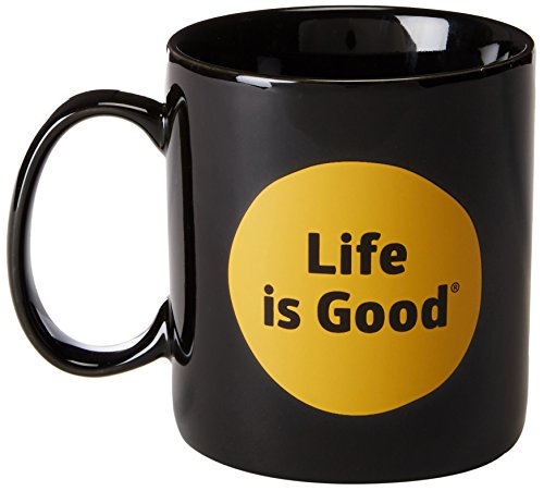 Sipping Cocoa - Life is Good Jakes Dot Mug (Night Black), One Size