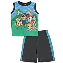 Nickelodeon Little Boys' Toddler Paw Patrol Sublimated Shorts Set