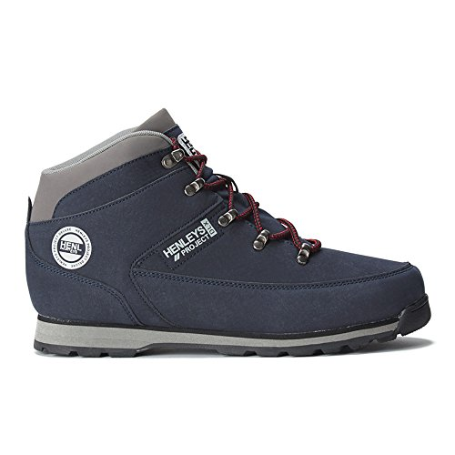 Henleys Men Navy Blue Hiker Nubuck Boots
