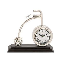 Benzara The Cute Metal Cycle Table Clock