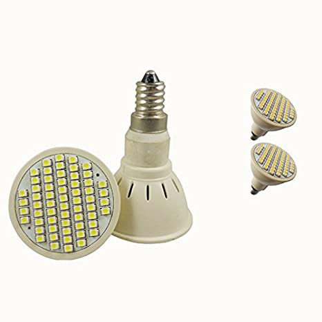 lumenbest Bombilla LED JDR E14 Focos LED de plástico 230 V 60 SMD sin tapa 3