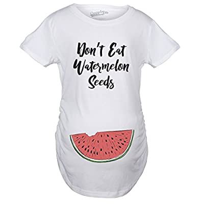 Crazy Dog T-Shirts Maternity Don't Eat Watermelon Seeds Tshirt Funny Pregnancy Tee