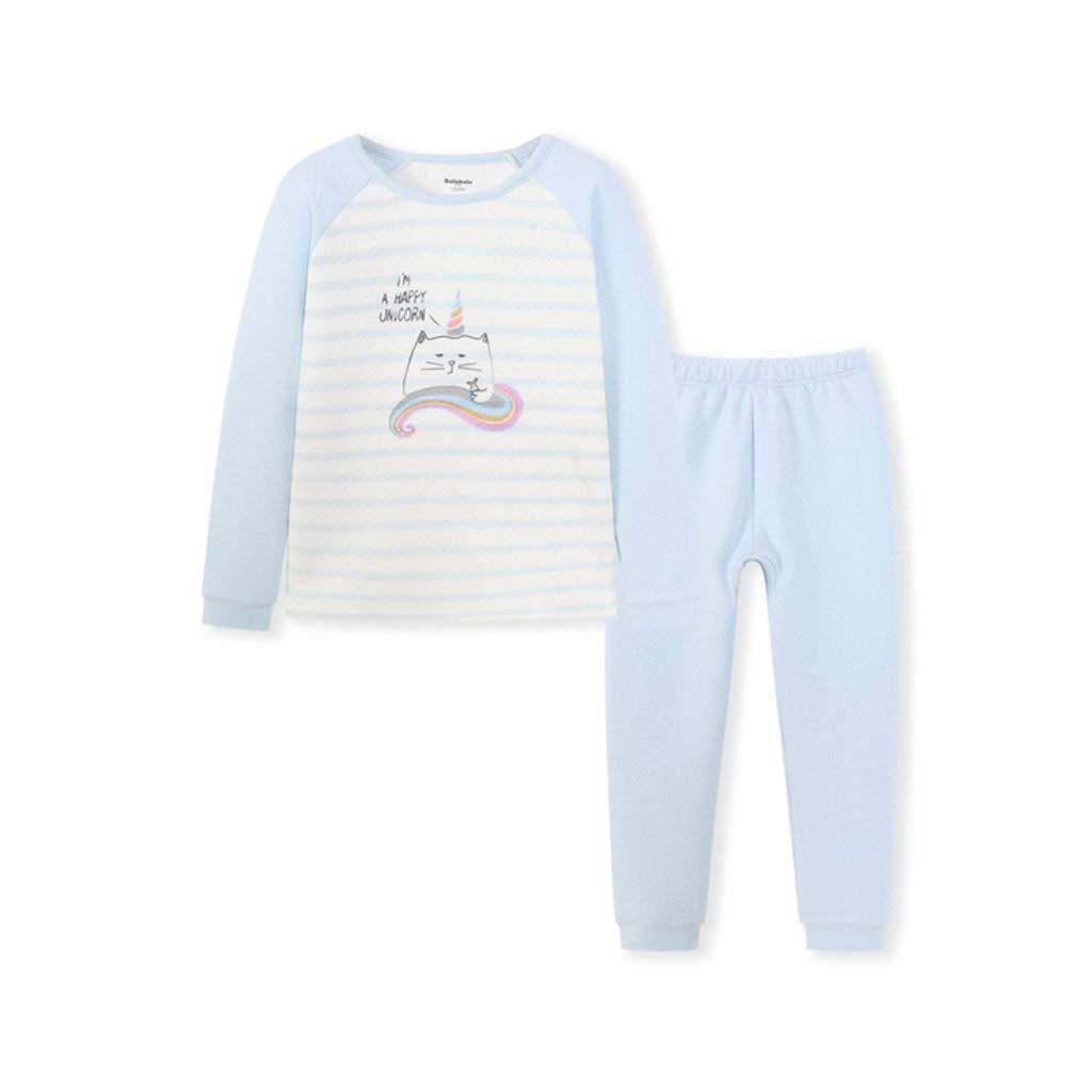 2-160cm  Lilongjiao Pyjama Fille Pyjama à Manches Longues Costume Pyjama Costume de HalFaibleeen pour