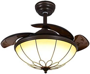 Araña Z iluminación Candelabro, Ventilador de Control Remoto LED ...