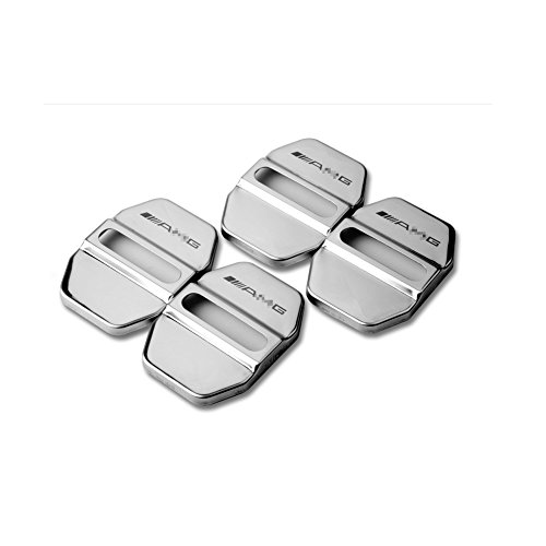 YIKA Stainless Steel Car Door Locks Protective Cover Decoration Modified Mercedes-Benz GLA Class CLA GLK A B C E (4pcs)