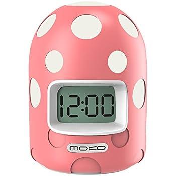 MoKo Digital Alarm Clock, Mini LCD Display Kids Clock Color Changing Night Light Travel Alarm Clocks Electronic Bedside Table Lamp with Snooze Backlight ...