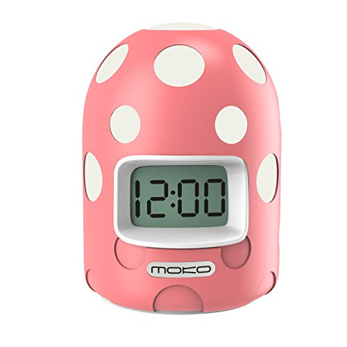 - MoKo Digital Alarm Clock, Mini LCD Display Kids Clock Color Changing Night Light Travel Alarm Clocks Electronic Bedside Table Lamp with Snooze Backlight Function for Home Office - Pink