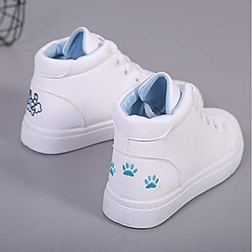 Blanc Polyuréthane UK3 5 TTSHOES Confort Plat US5 EU36 CN35 Chaussures Rose Basket 5 Blue Automne Femme Bleu Talon Zx1OEx8