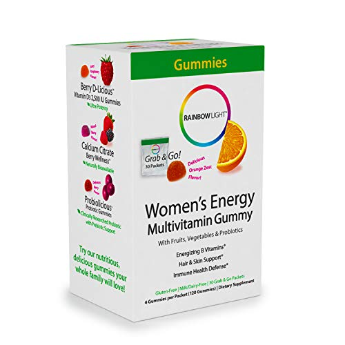 Rainbow Light - Women's Energy Multivitamin Gummy, 30 Count, Probiotics