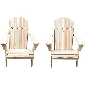 UHOM Outdoor Patio Lawn Deck Adirondack Wood Chairs Set Garden Furniture Set  of 2. Amazon com   UHOM Outdoor Patio Lawn Deck Adirondack Wood Chairs