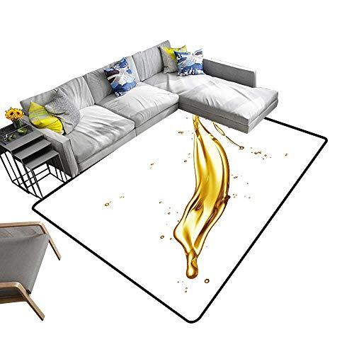 Non Slip Absorbent Carpet Engine Oil splaash Isolate on White backgroun No Chemical Odor 6' X 9'