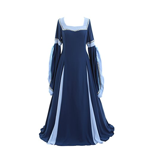 [CosplayDiy Women's Deluxe Medieval And Renaissance Costume Dress M] (Renaissance Costume Material)