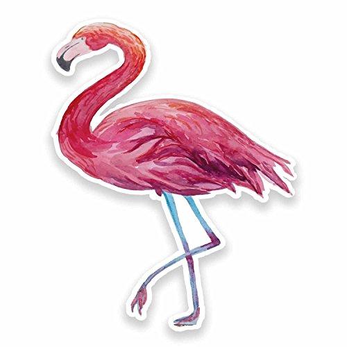 2 x Pink Flamingo Vinyl Stickers]()