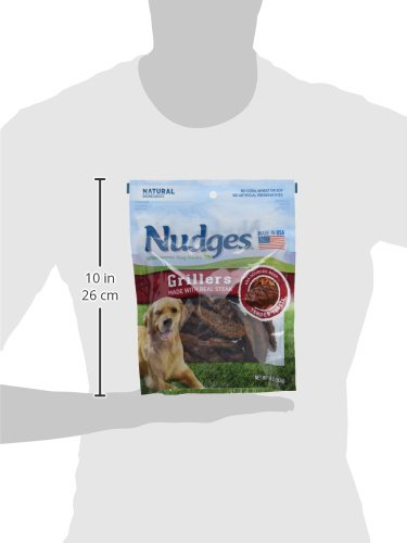 Nudges Grillers Dog Treats, Steak, 10 Ounce by Nudges (Image #7)