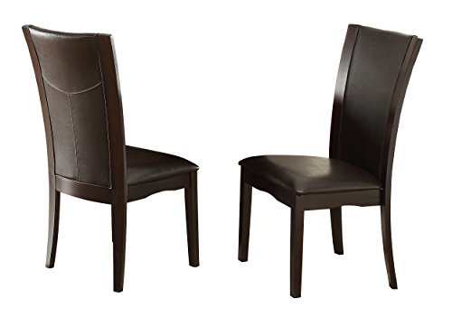 Homelegance Daisy Modern Dining Chairs Bi-Cast Vinyl Cover (Set of 2), Brown