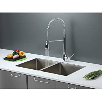 Ruvati Rvc2372 Stainless Steel Kitchen Sink And Chrome Faucet Set
