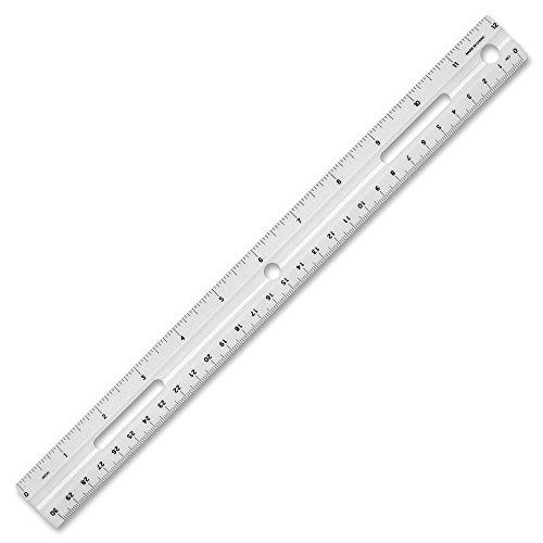 White Plastic Ruler - Business Source 12-Inch Plastic Ruler, White (32365)