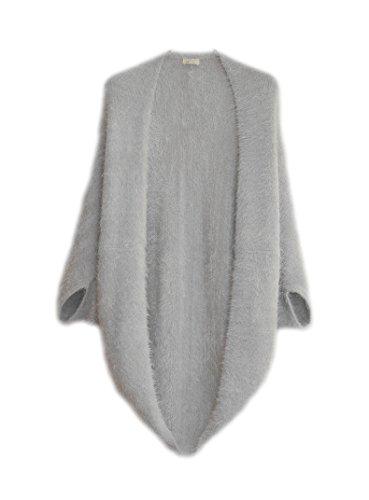 マント風 ふんわり 柔らか おしゃれ 多機能 七部袖 ニットカーディガン (6色)