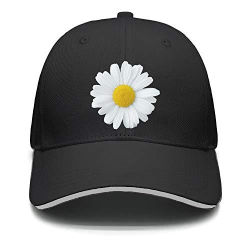 (UHOMEW Adjustable Casual Sport Hat Daisy Petal Unisex Sandwich Cap Truck Driver Hat)