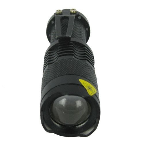 Mini 400 Lumens CREE Q5 LED Zoomable Adjustable Focus Flashlight Torch With Waterproof Design, Outdoor Stuffs