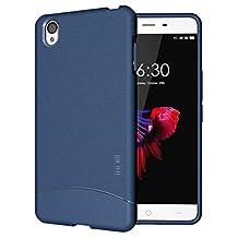 TUDIA Ultra Slim Full-Matte ARCH TPU Bumper Protective Case for OnePlus X (Blue)