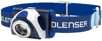 LED Lenser seo b5r azul-recargable-cabeza lámpara con cinta del pelo
