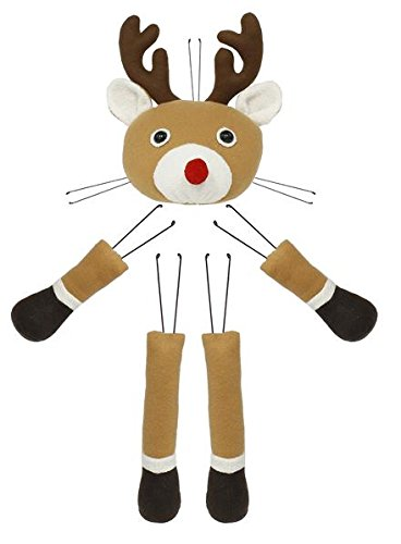 Reindeer Head Legs Hands Plush Wreath Embellishment Kit (5 pieces, 24