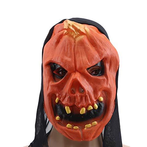 Weiy Halloween Mask Harvest Scary Pumpkin Head