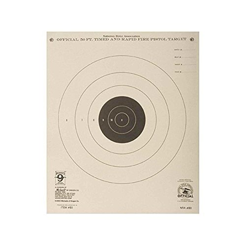 Hoppes Pistol Target (Hoppe's No. 9 Official Competition 50-Feet Timed Rapid Fire Pistol Target Paper (20 Pack))