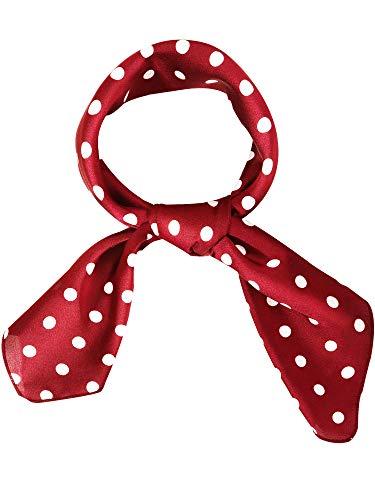 - Satinior Chiffon Scarf Square Handkerchief Satin Ribbon Scarf Neck Scarf for Women Girls Ladies Favor (27.56 x 27.56 inches, Dark Red)
