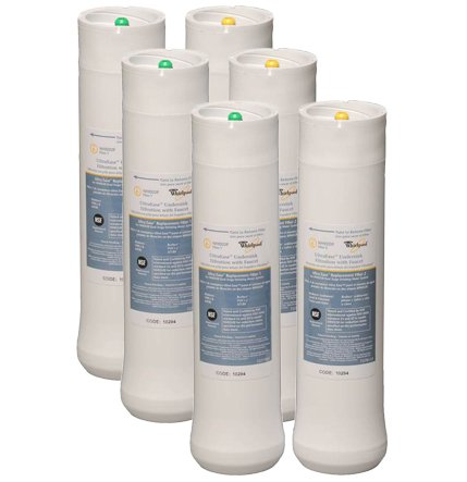 Whirlpool WHEEDF Dual Stage Replacement Pre/Post Water Filters (Fits Systems WHADUS5 & WHED20) Whirlpool Undersink Filter