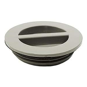 "Waterway 400-4147B 1.5"" MPT Flush Plug with Gasket - Gray 400-4147B"
