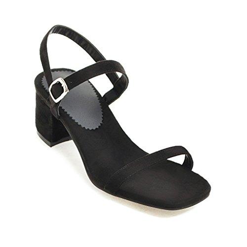 Estate Aiweiyi Tacchi Quadrati Di Il Cinturino Nero Sandali Con Stile Donne Alti Di Cxtq11