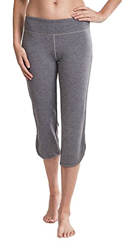 Tuff Athletics Womens Crop Capri Pants (Small, Gray -
