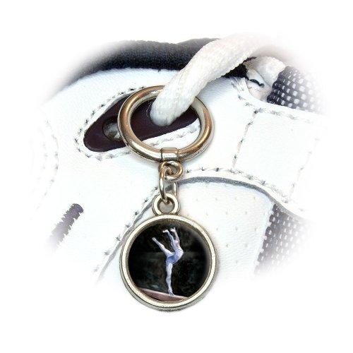Gymnast Blue - Gymnastic Vault Pommel Horse Shoe Sneaker Shoelace Charm Decoration