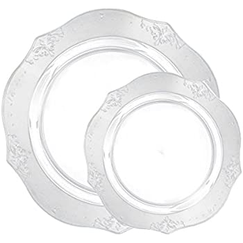 Posh Setting Antique Collection Combo Pack China Look Clear Plastic Plates(Includes 4 Packs  sc 1 st  Amazon.com & Amazon.com: Posh Setting Antique Collection Combo Pack China Look ...