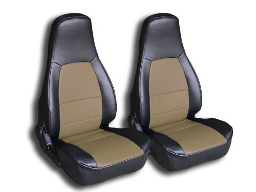 Amazon.com: 1990 2000 Mazda Miata Black Artificial Leather Custom Fit Front Seat  Cover: Automotive
