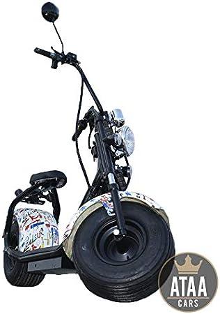 ATAA CityCoco Matriculable Picasso - Patinete Scooter eléctrico de batería 60v Motor 1000w Moto eléctrica Estilo choper Harley