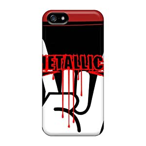 Anti-Scratch Cell-phone Hard Cover For Iphone 5/5s (Awx19223FJKi) Allow Personal Design Trendy Metallica Series