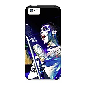 Shock Absorbent Cell-phone Hard Cover For Iphone 5c (fDF2623zFHo) Unique Design Beautiful Black Veil Brides Band BVB Pattern