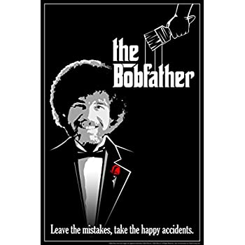Bob Ross The Bobfather Funny Parody Poster 12x18 Inch
