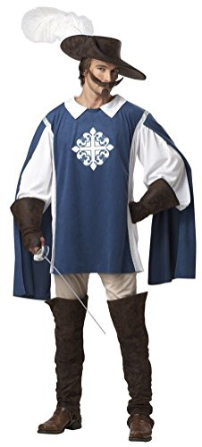 POPLife Three Musketeer Medieval Renaissance Adult Men Costume (Prosthetic Clown Costume)