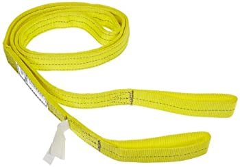 """Indusco 77865701 Type 3 Nylon Flat Eye Synthetic Sling, 2 Ply, 6400 lbs Vertical Load Capacity, 12' Length x 2"""" Width"""