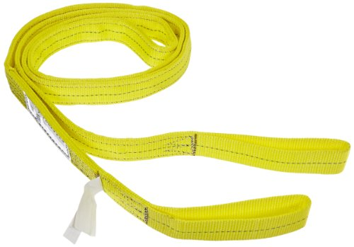 Choker Hook (Indusco 77865701 Type 3 Nylon Flat Eye Synthetic Sling, 2 Ply, 6400 lbs Vertical Load Capacity, 12' Length x 2