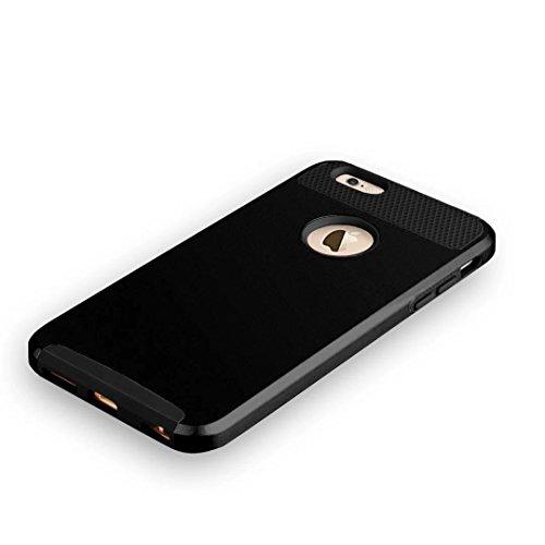 """iPhone 6 Plus Coque,iPhone 6S Plus Coque,Lantier Simple Series 2 en 1 double couche hybride dur antichoc Cover Protect pour Apple iPhone 6 Plus,iPhone 6S plus 5.5""""Noir"""