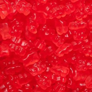 Albanese Confectionery 50114-CASE Gourmet Fresh Strawberry Gummi Bears - 20 lb Case by Albanese Confectionery