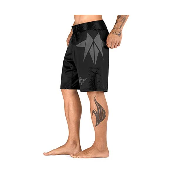 Elite Sports Star Series Fight Shorts - UFC, MMA, BJJ, Muay Thai, WOD, No-GI, Kickboxing, Boxing Shorts 3