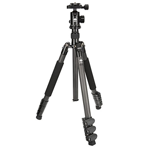 Sirui SUET1204 Carbon Fiber Tripod Kit with E-10 Ball Head and Case by Sirui