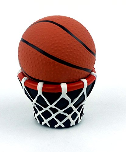 Basketball Stress Ball with Basketball Hoop Stand